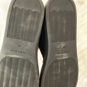 Zara Shoes - Zara Man Elastic Braided Hi-Top Slipon
